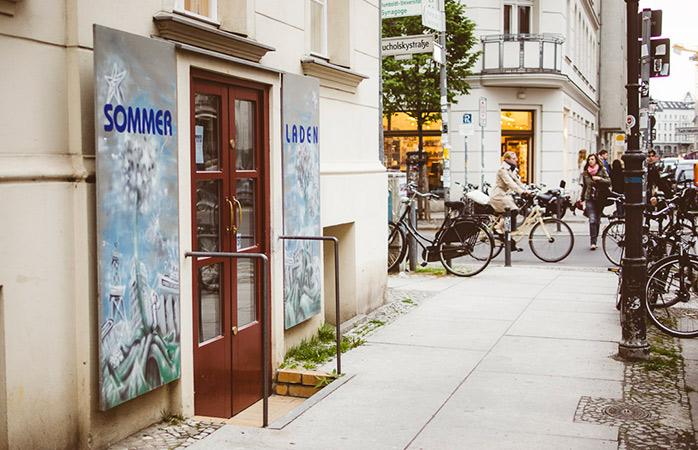 Der Eingang zum Sommerladen, einer Pflichtadresse für Shopping in Berlin.