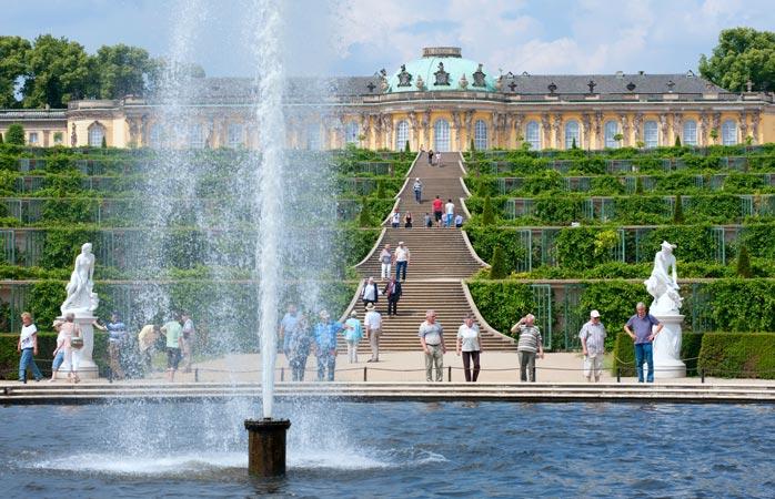 Der Terrassengarten von Schloss Sanssouci