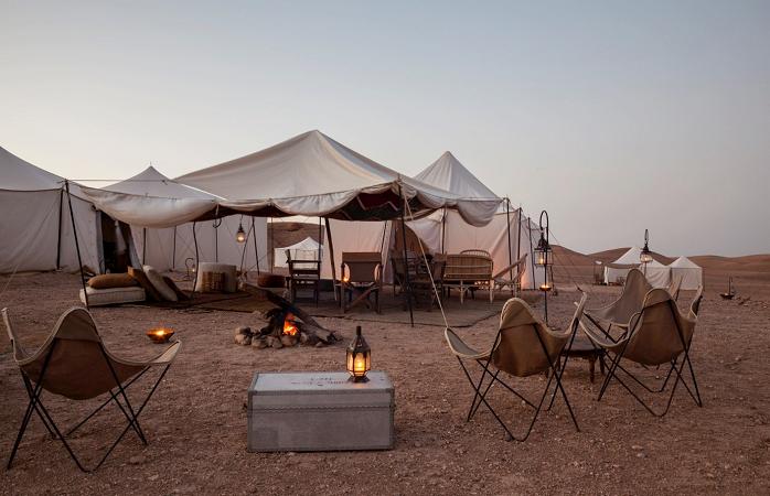 Glamping im Scarabeo Camp, Marokko