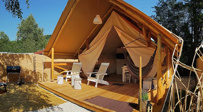 Das Lodge Zelt am Turnersee in Österreich