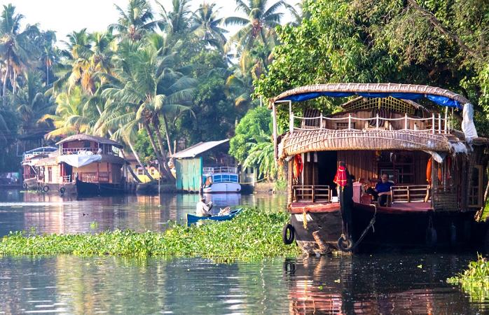 Hausboote in Kerala, Indien