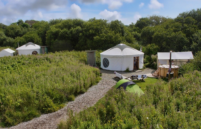 Glamping in den Florence Springs, Wales