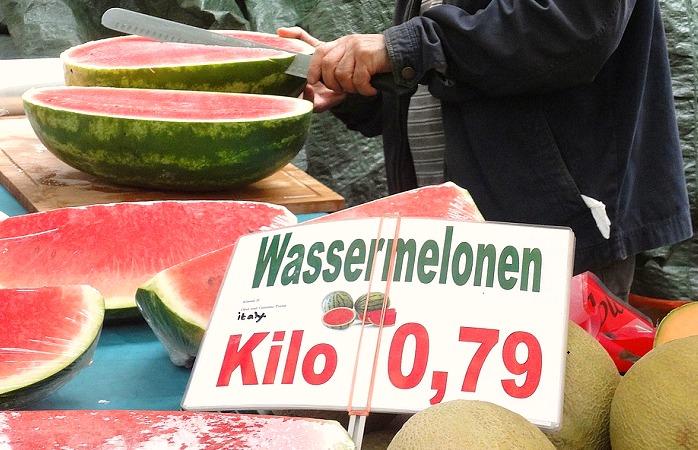 Wassermelonen Markt Berlin