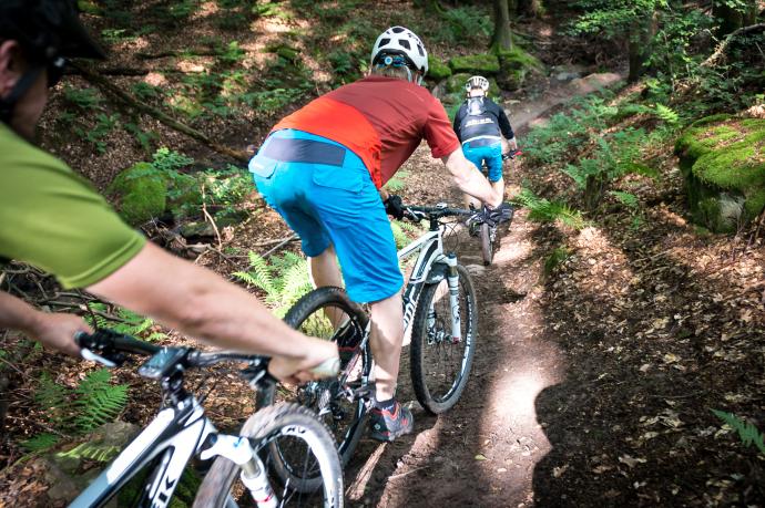 fortgeschrittene-Mountainbiker-Churfranken