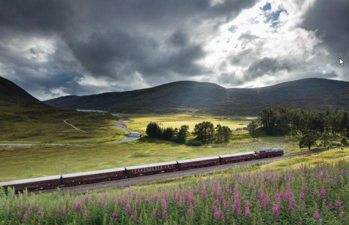Genieße eine exklusive Zugfahrt durch die schottischen Highlands mit dem Royal Scotsman