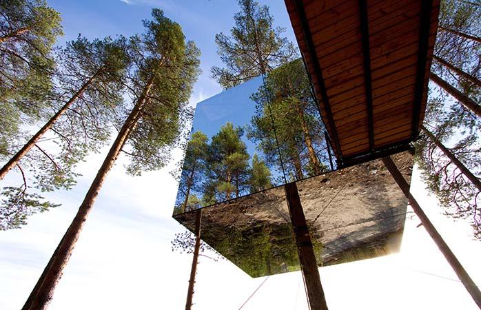 Baumhaushotel in der Natur, das Treehotel in Harads