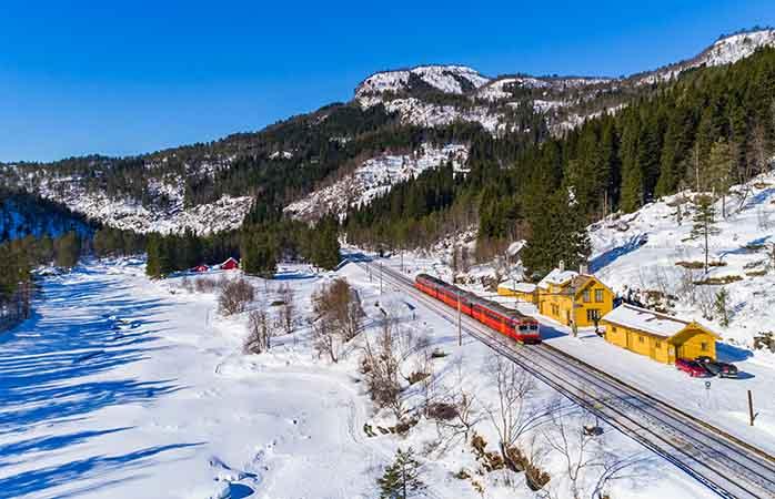 Entdecke die spektakuläre Landschaft Norwegens in der Bergensbane
